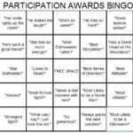 Participation Awards Bingo